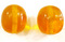 Horn Bead Oval 26mm x 24mm Yellow Transparent