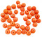 Indian Glass Round Bead Range Orange Frosted Opaque 4mm