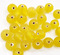 Indian glass round bead range Yellow Transparent 6mm