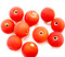 Indian Glass Round Bead Range Bright Red Frosted Opaque 10mm