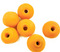 Indian Glass Round Bead Range Orange Frosted Opaque 10mm