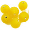 Indian Glass Round Bead Range Yellow Frosted Transparent 12mm
