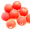 Indian glass round bead range Bright Red Frosted Opaque 12mm