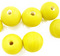 Indian Glass Round Bead Range Yellow Frosted Opaque 12mm
