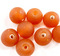 Indian Glass Round Bead Range Orange Frosted Transparent 12mm